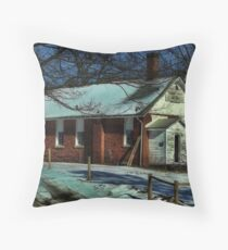 Abandoned house of God Throw Pillow