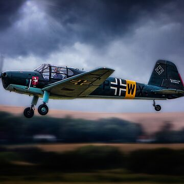 Messerschmitt BF108 Takeoff Under Dark Clouds by ChrisLord