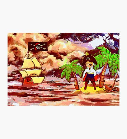 Toon Boy No 20a A Pirate Boy scene Photographic Print