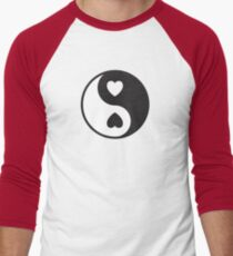 Ying Yang Hearts Men's Baseball ¾ T-Shirt