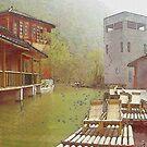 Water Village (Watercolor) by Jennifer Lam
