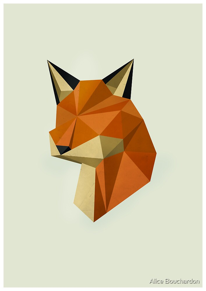 Geometric Fox by Alice Bouchardon