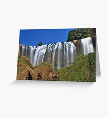 Elephant Waterfall 2 Greeting Card