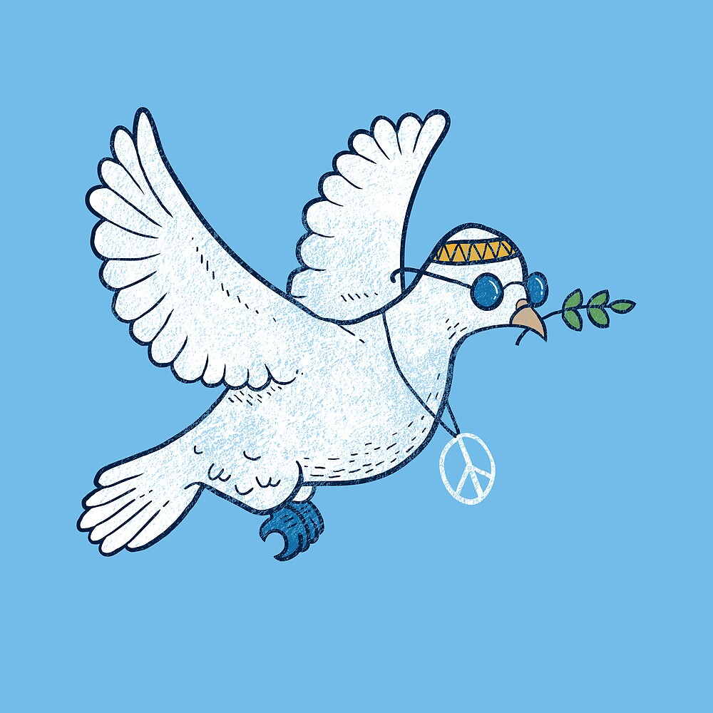 The Hippie Dove by laurxy
