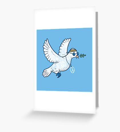 The Hippie Dove Greeting Card