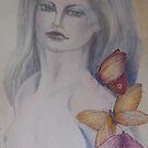 woman with butterflies by Ellen Keagy