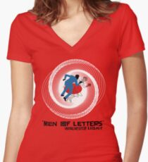 Men of Letters Women's Fitted V-Neck T-Shirt