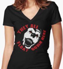 IT HAPPENS. Women's Fitted V-Neck T-Shirt