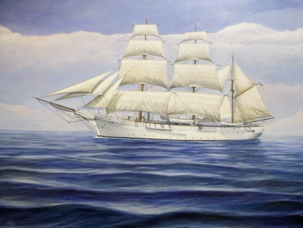 United States Coast Guard Samuel Chase by William H. RaVell III