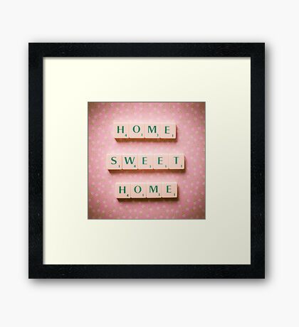 Home Sweet Home - Scrabble Tiles Photograph Framed Print