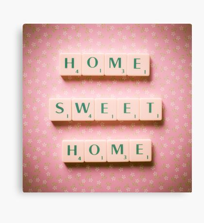 Home Sweet Home - Scrabble Tiles Photograph Canvas Print