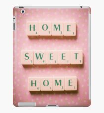 Home Sweet Home - Scrabble Tiles Photograph iPad Case/Skin
