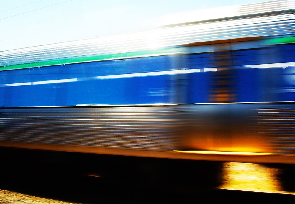 Train 07 03 13 by Robert Phillips
