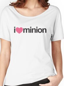 I Heart Minion (Pink) Women's Relaxed Fit T-Shirt