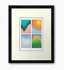 Water, Fire, Air, Earth Framed Print