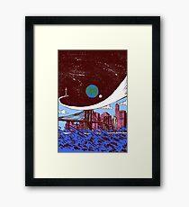 Silver Surfer finds Earth Framed Print