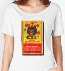 Black Cat Fireworks T-Shirt Women's Relaxed Fit T-Shirt