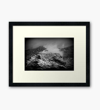 B/W Snowy Mountain Framed Print