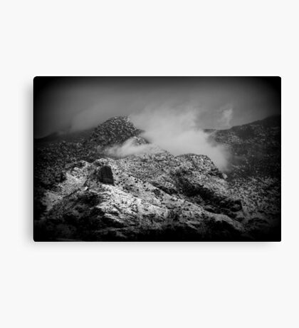 B/W Snowy Mountain Canvas Print