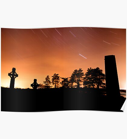 Clonmacnoise Startrail Poster
