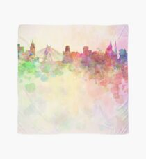 Sao Paulo skyline in watercolor background Scarf