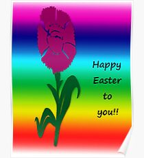 """""""Happy Easter""""  greeting card Poster"""