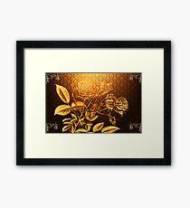 Glow Rose Framed Print