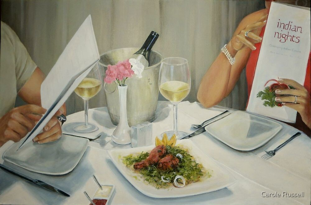 Still life with people by Carole Russell