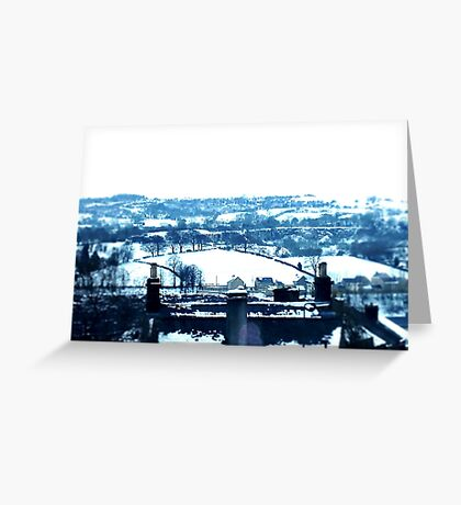 Snowy view Greeting Card