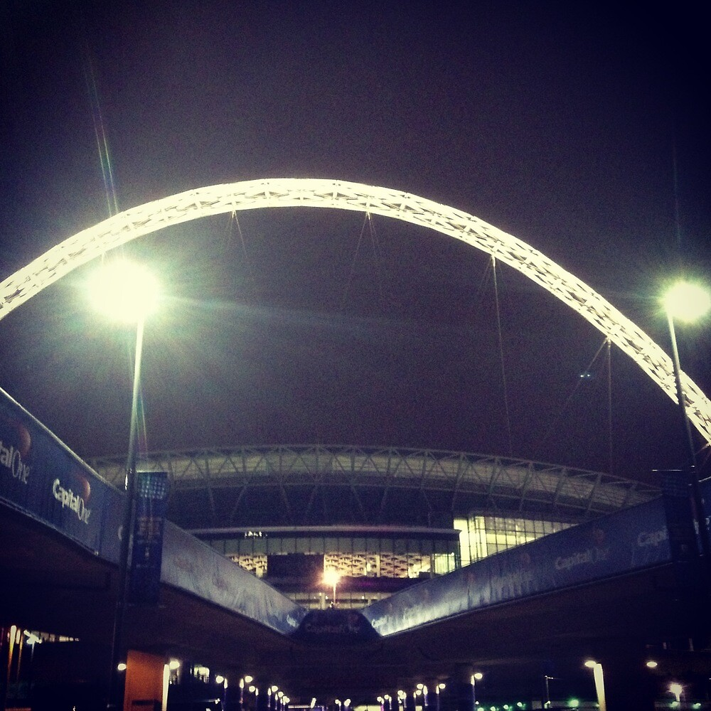 Wembley Arch. Night. by Robert Steadman