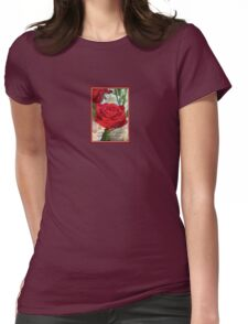 Whispers of Passion and Love Red Rose Greeting Card T-Shirt
