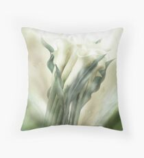 White Callas Throw Pillow