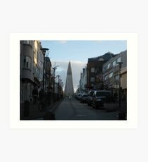 Monolith at the Top Wide Art Print