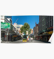 Rundle Mall - From Pulteney Street Intersection Poster