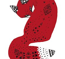 Red Tribal Fox by WeileAsh