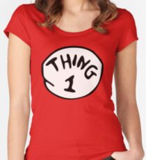 thing 1 Women's Fitted Scoop T-Shirt
