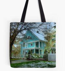 Blue Victorian Tote Bag
