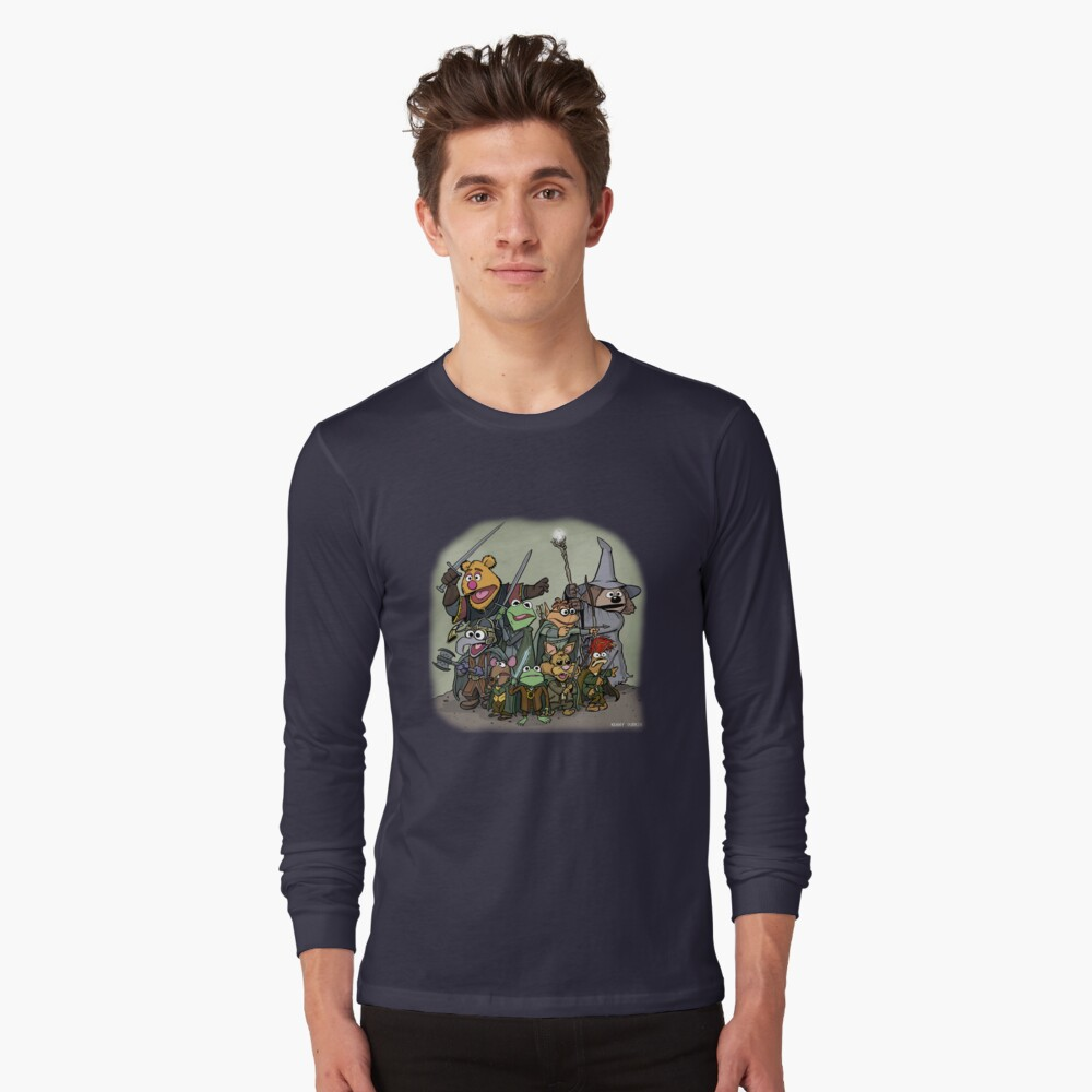 Fellowship of the Muppets Long Sleeve T-Shirt Front
