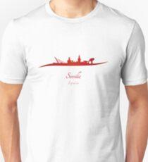 Seville skyline in red Unisex T-Shirt