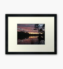 SummerSunSet Framed Print