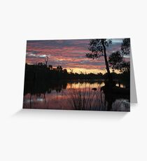 SummerSunSet Greeting Card