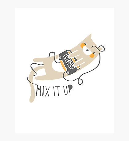 Mixtape Kitty Photographic Print