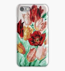 A Beautifully Bold Floral Bouquet of Tulips iPhone Case/Skin