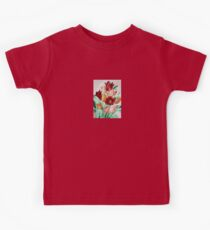 A Beautifully Bold Floral Bouquet of Tulips Kids Tee