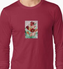 A Beautifully Bold Floral Bouquet of Tulips Long Sleeve T-Shirt