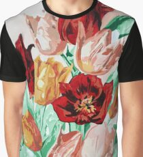 A Beautifully Bold Floral Bouquet of Tulips Graphic T-Shirt
