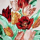 A Beautifully Bold Floral Bouquet of Tulips by taiche
