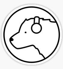 Polar Bear DJ Sticker