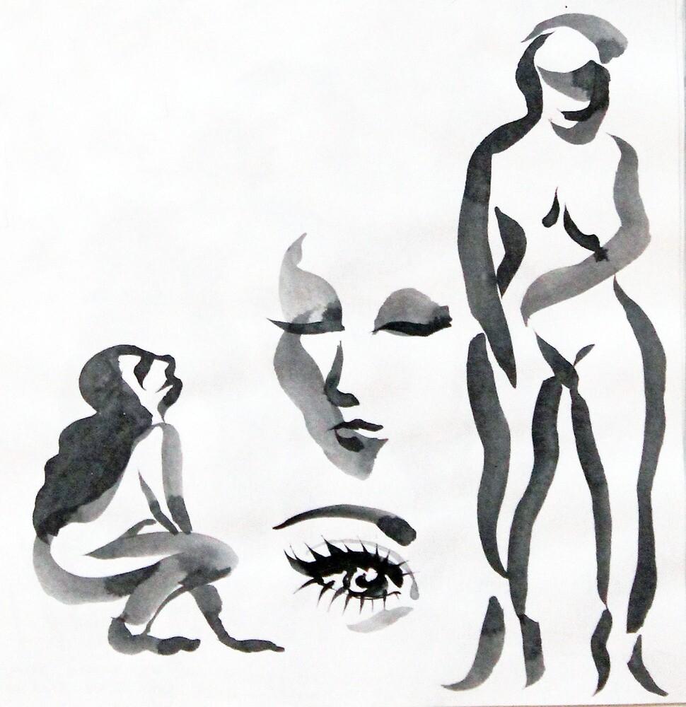 Ink Girls by Sylvia  Hollis