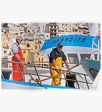 Landing at Sciacca, Sicily Poster